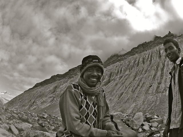 The 'leader' of our porters gives one of those camp smiles that tells you all is right with the team. When he pouted, we knew there could be an issue