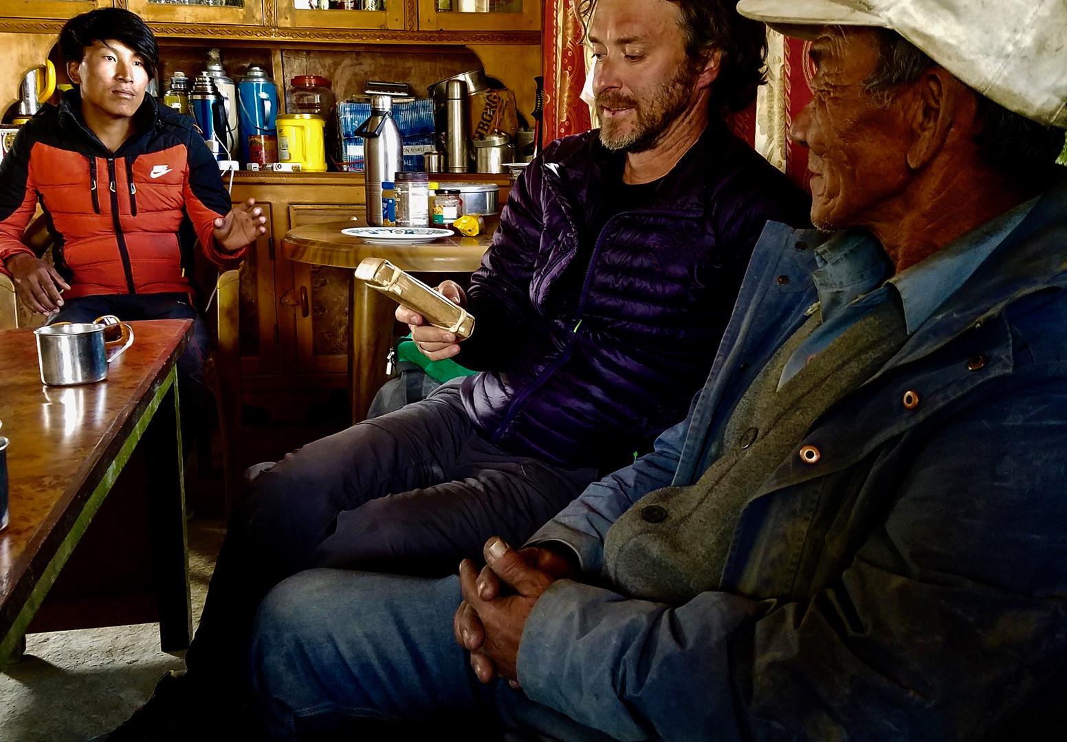 With Master Kunga and Abu - Lo Manthang - 2017