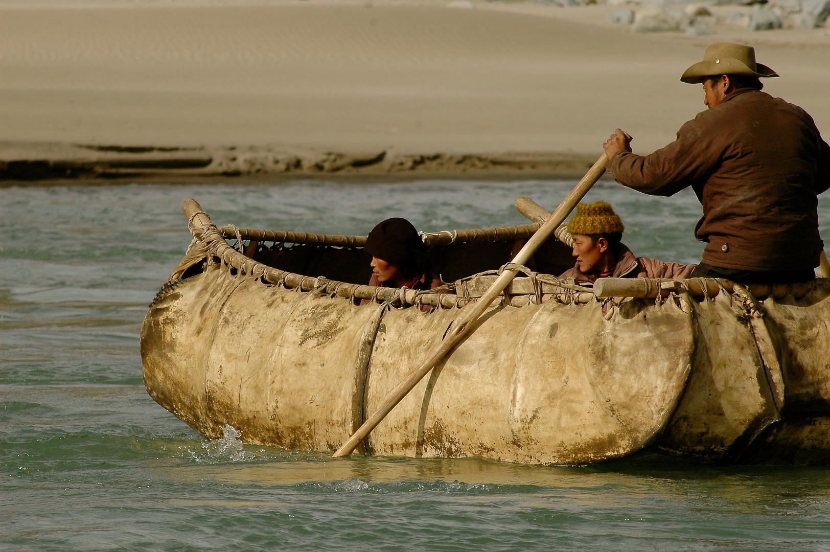 Yak Skin Boat - Tibet