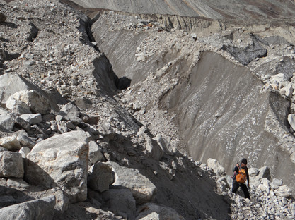 Crossing Gangotri Glacier