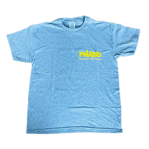 baby blue & yellow FWABB TEE