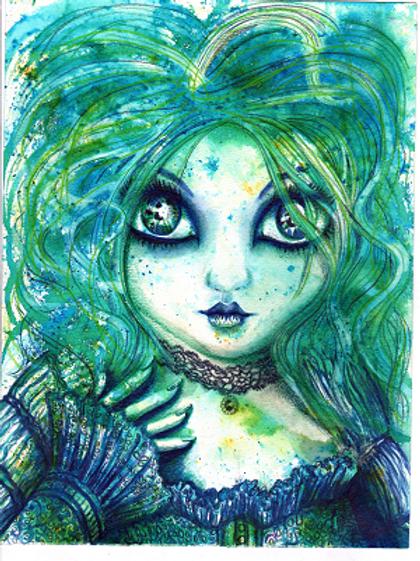 Aqua Goth girl