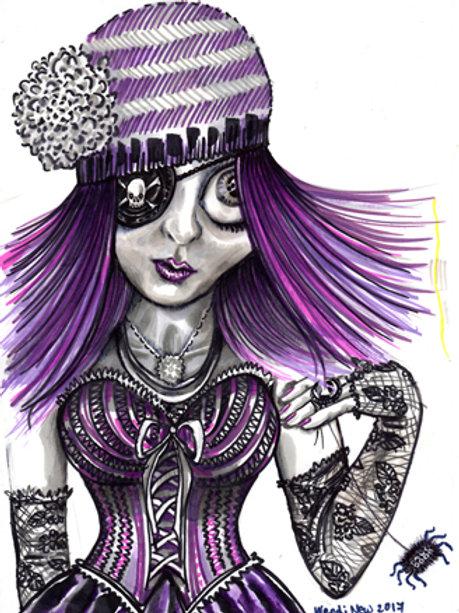 PRINT of Grunge pirate girl