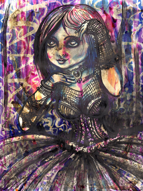 PRINT of Gothic girl