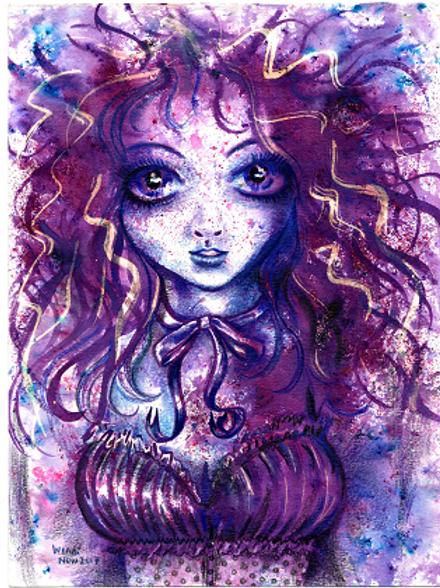 Violet Goth girl