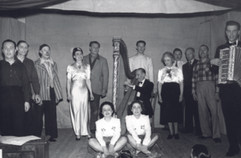 The cast of the 1954 performance at Rush
