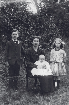 Amelia Newland and children Church Farm