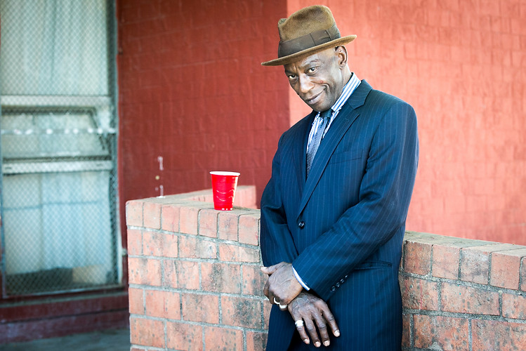 A well-dressed North Philadelphia poses for a portrait at Dendy Recreation Center in North Philadelphia on the evening of Saturday, July 7, 2018.  Maggie Loesch / Personal