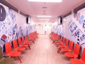 Vista general de la sala de espera