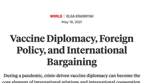 Vaccine Diplomacy, Foreign Policy, and International Bargaining