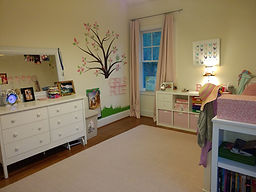 kids organized room