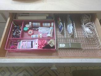 Organized decluttered drawer