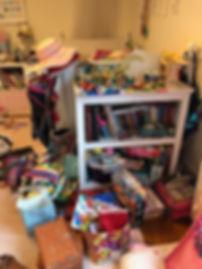 Kids disorganized room