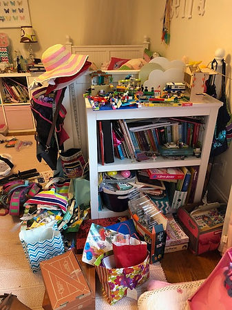 Kids disorganized room