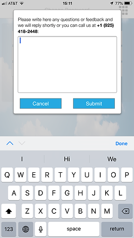 Automatic Fender  App - Support screen