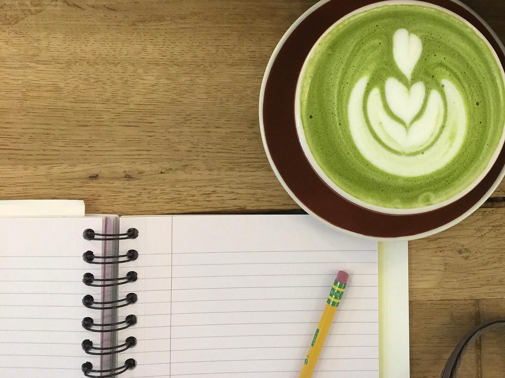 Almond Milk Matcha Latte photo by Kristin Pomeroy
