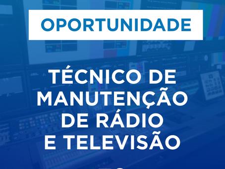 Técnico de manutenção de televisão e rádio