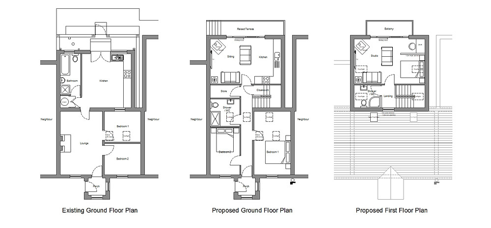 Planning Application. Existing & Proposed Plans