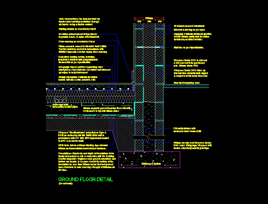 Ground Floor Detail approved by Building Control - Building Control Application