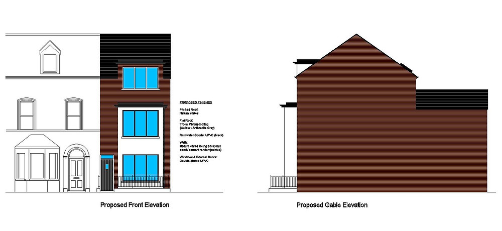 Proposed Elevations of Apartments