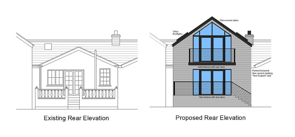 Planning Application. Existing & Proposed Elevations
