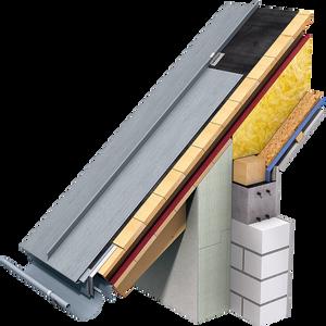 Zinc standing seam roof detail