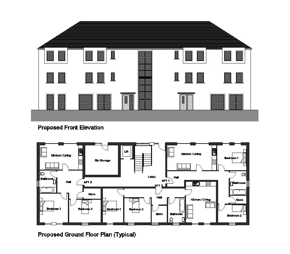 Plans and Elevations of Apartments