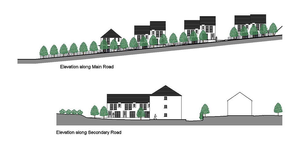 Planning Elevation showing streetscape