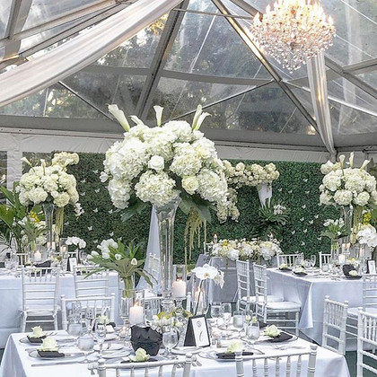 Elegant outdoorsy affair- White, Green w