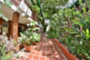 Patio interno del Hotel Camoruco