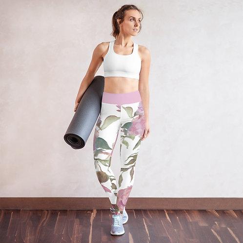 Rose On The Vine | Yoga Leggings