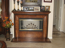 Faux Wood Fireplace