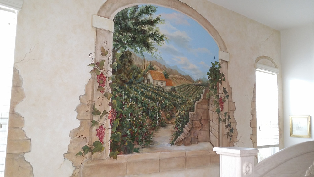 Completed mural 2 weeks- Tuscany mural