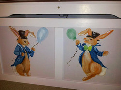 Twin Bunnies Toy Chest