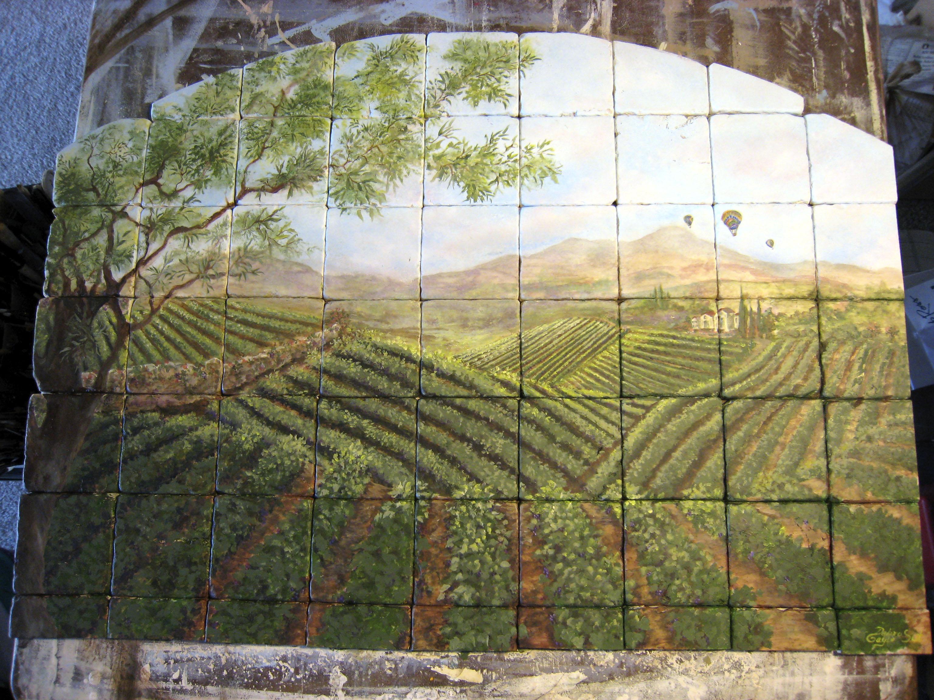 Tile Mural Backsplash