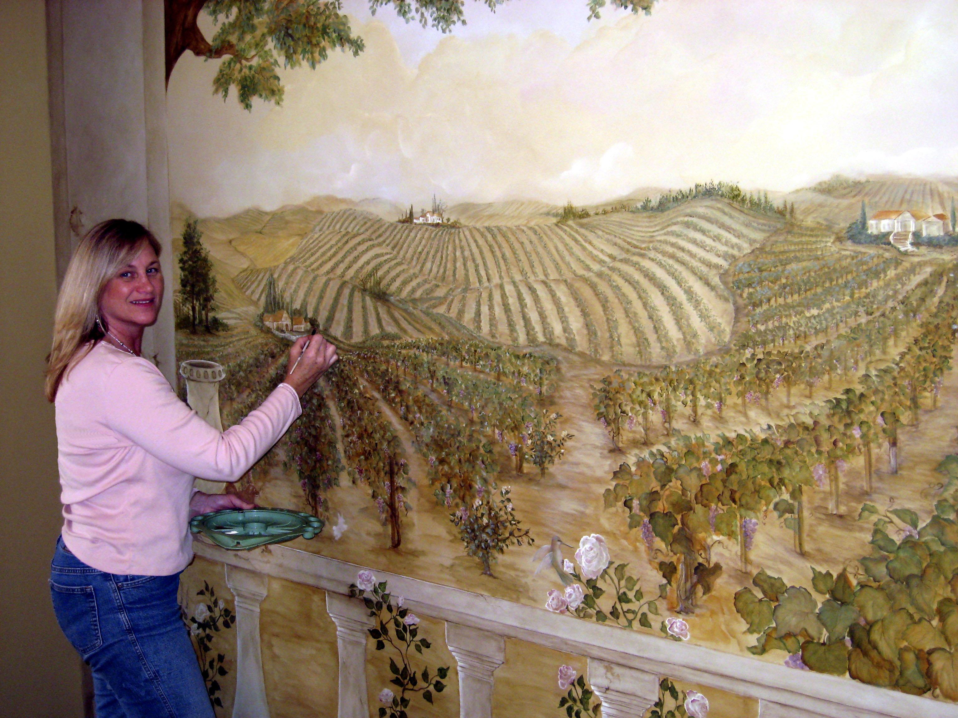 Debra Painting Mural PD