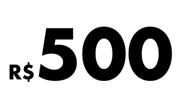 R$500