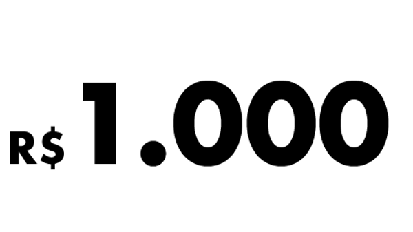 R$1.000