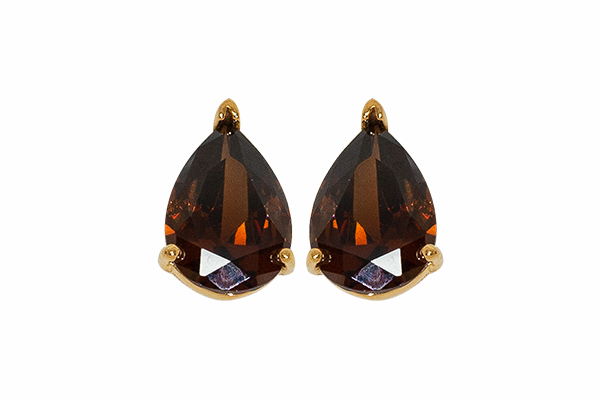 Aretes Brown Drop
