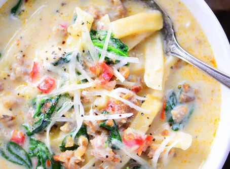 Luxuriously Creamy Italian Sausage  Soup
