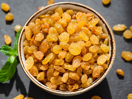 Gin-Soaked Golden Raisins, Yes you heard me!