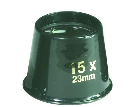 loupe 15x à poser compacte transportable dans la poche