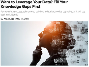 Want To Leverage Data? Fill Your Knowledge Gaps First