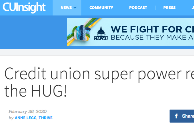 Credit Union Super Power - the HUG