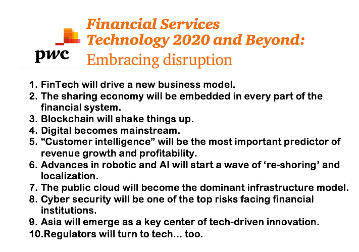 PWC top 10 list of disruption