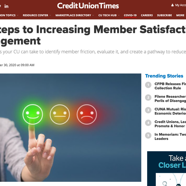 CU Times: Increase Member Satisfaction