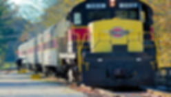 Long train on tracks