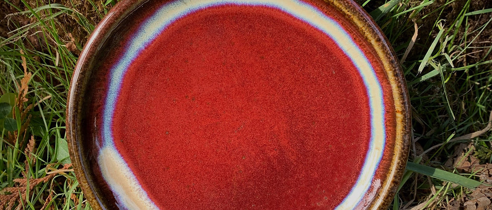 Blue Spruce Dessert Plate - Red #2