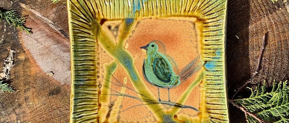 Elaine Walzl Square Bird Plate