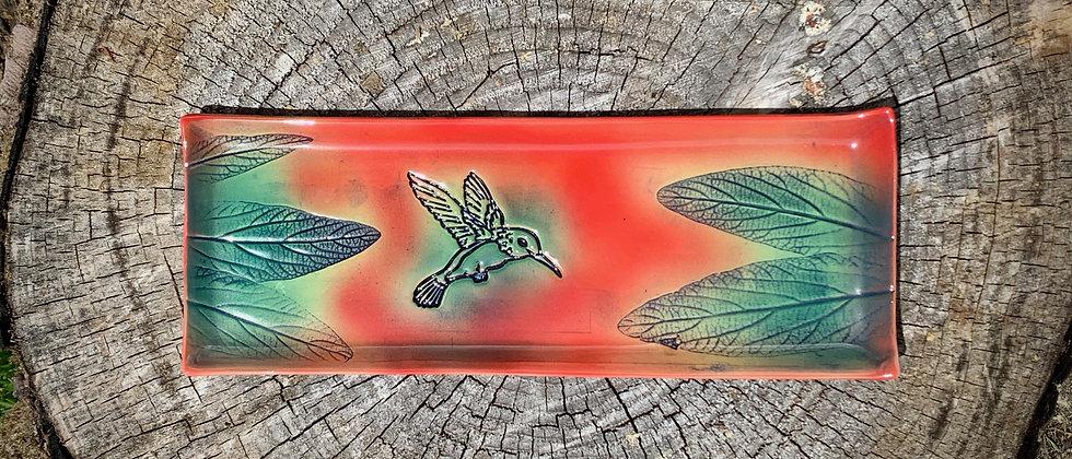 Dorothy Steele Tray- Hummingbird